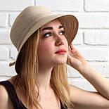 Женская летняя шляпа, капучино, фото 2