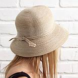 Женская летняя шляпа, капучино, фото 3