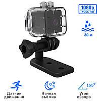 Мини экшн камера SQ12. Миниатюрная видеокамера с ночной съёмкой. Датчик движения