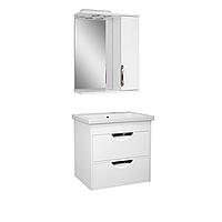 Комплект мебели для ванной комнаты Альвеус Т-60-30ПК-З-60-01 с зеркалом ПИК
