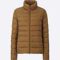 Женская коричневая  легкая куртка на пуху ultra light down осень/весна  Uniqlo (пакуется в мешочек), фото 1