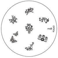 Диск для стемпинга Konad Image Plate M068
