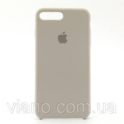 Силиконовый чехол iPhone 7 Plus/8 Plus (Светло серый). Apple silicone case