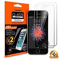 Защитное стекло Spigen для iPhone SE/5S/5 (2 шт), фото 1