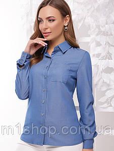 Женская хлопковая рубашка больших размеров (1773  mrs)