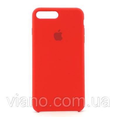 Силиконовый чехол iPhone 7 Plus/8 Plus (Красный). Apple silicone case