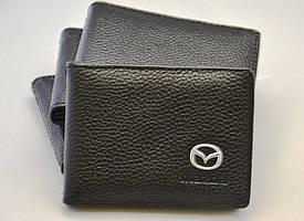 Кожаная обложка для прав с логотипом Mazda (Мазда)