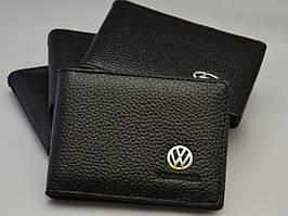 Кожаная обложка для прав с логотипом Volkswagen (VW, Фольцваген)