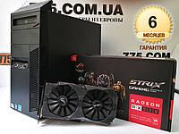Игровой компьютер Intel Core i5-2400, RAM 16ГБ, SSD 120ГБ, HDD 500ГБ, Radeon RX570 4GB, гарантия на ПК, фото 1