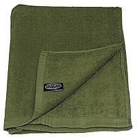 Полотенце махровое 110x50 см тёмно-зелёное