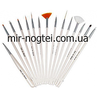 Набор кистей для росписи ногтей, 15 шт, фото 1