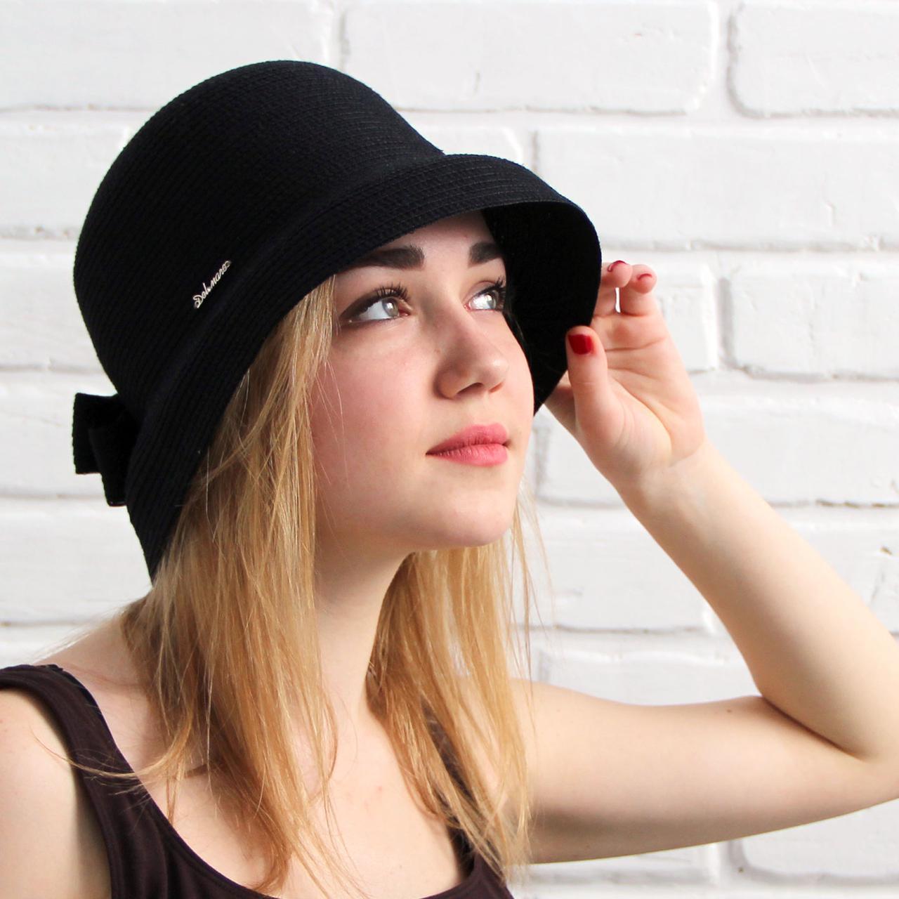 Женская летняя шляпа, черный