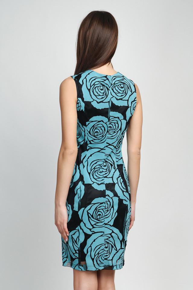 Платье-футляр из гипюра на подкладке П125