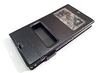 Чехол книжка с окошками momax для Sony Xperia Z c6602 / c6603 l36h черный