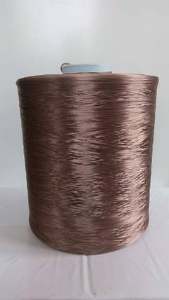 Нитки для оверлока ковролина бежевый металлик, фото 2
