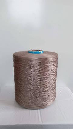 Нитки для оверлока ковролина бежевые металлик, фото 2