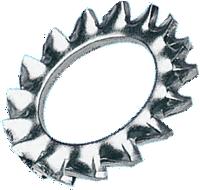 Шайба стопорная с наружными зубьями DIN 6798A 7