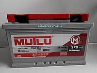 Аккумулятор автомобильный 6CT-75 Aз Eв Silver Mutlu (низ) SFB