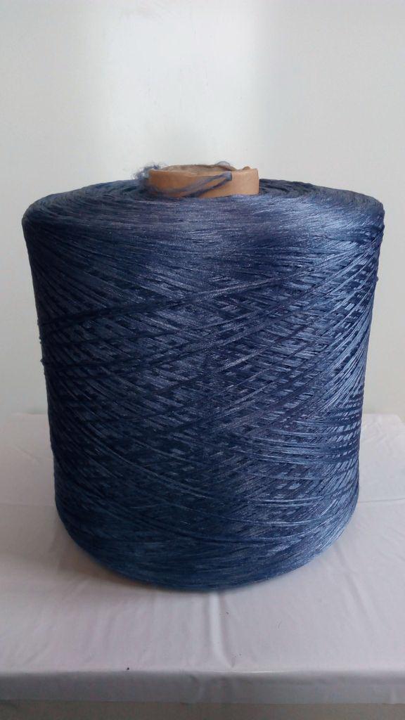 Нить для коврового оверлока синяя 2