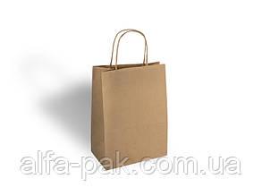 Пакет бумажный на вынос большой с ручкой 290*230*120