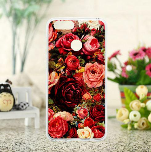 Силиконовый чехол бампер для Huawei Honor 7X с картинкой Розы