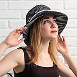 Женская летняя шляпа, черный+белый, фото 2