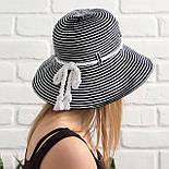 Женская летняя шляпа, черный+белый, фото 3