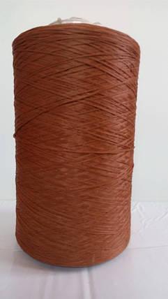Нить для оверлока ковролина коричневая 3, фото 2