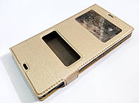 Чехол книжка с окошками momax для Sony Xperia Z c6602 / c6603 l36h золотой