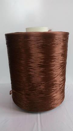 Нить для оверлока ковролина металлик коричневый, фото 2