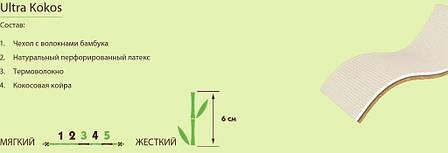 ✅ Ортопедический матрас  Ultra Kokos 70x190 см. Take&Go Bamboo, фото 2