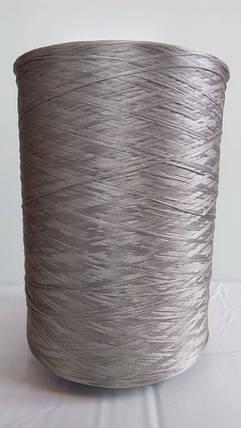 Нить для оверлока ковролина металлик светло-серый, фото 2