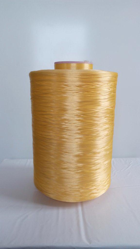 Нить для оверлока ковролина металлик желтый