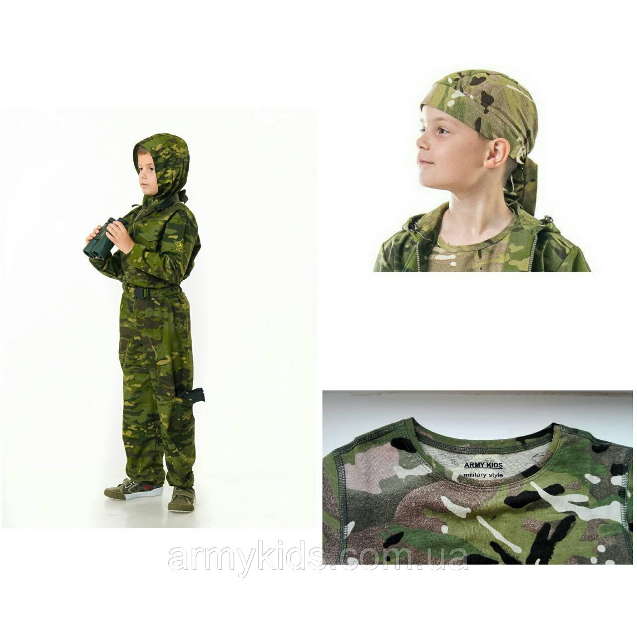 Комплект комбинезон бандана футболка камуфляж Мультикам Тропик