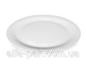 Тарелка бумажная белая d 30