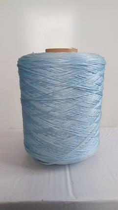 Нить для оверлока ковролина голубая, фото 2