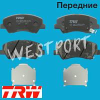 Тормозные колодки TRW Kia RIO Hyundai SOLARIS Передние Дисковые Со звуком износа GDB3548