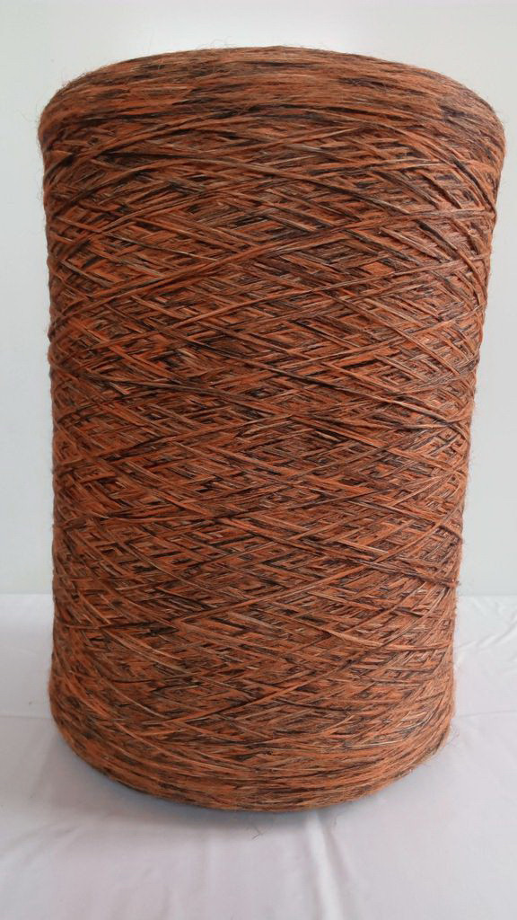 Нить для оверлока ковров меланж коричнево-оранжевый 2