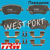 Тормозные колодки TRW Opel AGILA Передние Дисковые Со звуком износа GDB3396