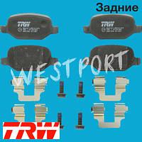 Тормозные колодки TRW Задние Дисковые Без датчика износа GDB1396