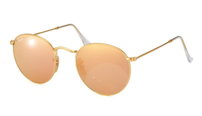 Солнцезащитные очки Ray-Ban Round Metal Flash Lenses Золотистый (RB3447  112 Z2) 47e73ee1afb9b
