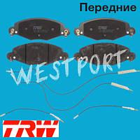 Тормозные колодки TRW Citroen C5 Передние Дисковые С датчиком износа GDB1449