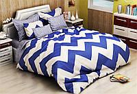 Двуспальный комплект постельного белья 180х220  из бязи Голд ЗИГ-ЗАГ