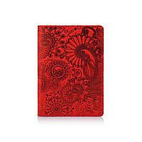 """Красная Обложка для паспорта Hi Art PC-01 """"Mehendi Art"""""""