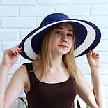 Женская летняя шляпа с большими полями, синий, фото 2
