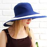 Женская летняя шляпа с большими полями, синий, фото 3