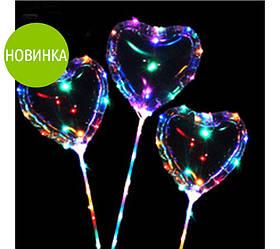 Прозрачный светодиодный шар Bobo (сердце)