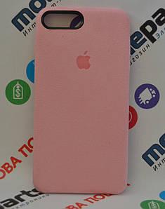 Оригинальный Чехол Alcantara Cover для Apple iPhone 7 Plus (Розовый) (Акция!)