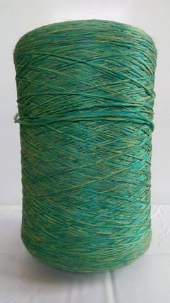 Нитки для оверлока ковров меланж зелено-желтый, фото 2