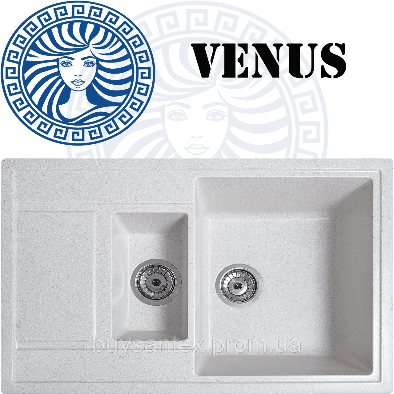 Кухонная мойка Cora - Venus Ivory